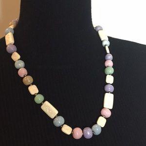 Vintage Fashion Jewelry Faux Stones Necklace